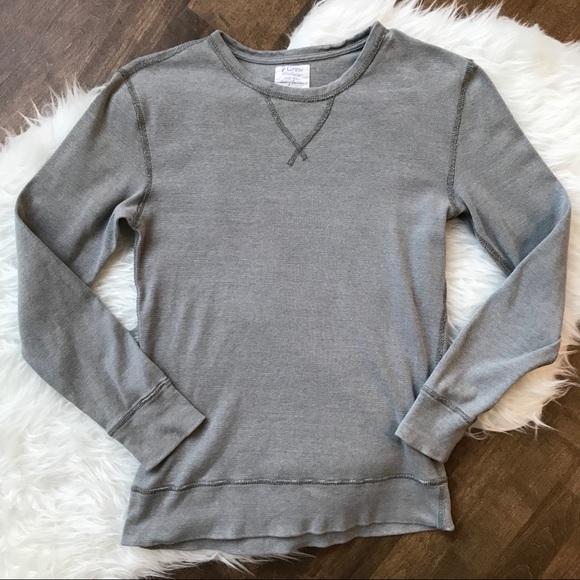 7704d765 J. Crew Factory Shirts   Jcrew Grey Twisted Rib Crewneck Tshirt Long ...